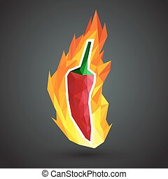 pepper vector - Extremely super hot red chilli paprika...