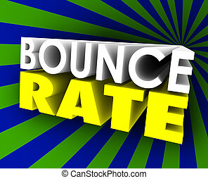Bounce Rate 3d Words Visitor Audience Retention Internet Web...