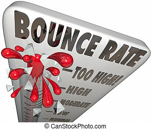 Bounce Rate Words Thermometer Measure Online Visitor Abandon...