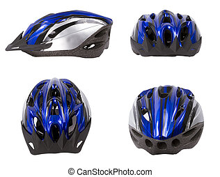 Bicycle safety helmet isolated.