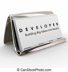 Developer Business Cards Builder Software Application...