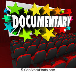 Documentary Word Movie Screen Non Fiction Story Film Cinema...