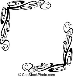 Swilr Border Elements 1 - Vector Art Border Swirl Elements