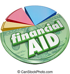Financial Aid Money Support Help Assistance Pie Chart -...