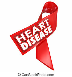 Heart Disease Awareness Ribbon Cure Coronary Condition...