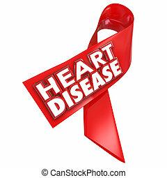 Heart Disease Awareness Ribbon Cure Coronary Condition...