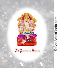 figurina, di, indù, dio, Ganesha.,