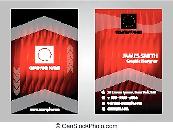 Business card elements for design