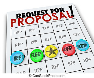 RFP Request for Proposal Bingo Card Business Competition -...