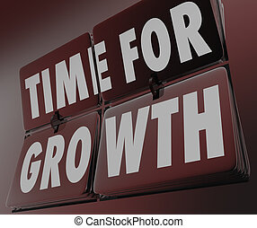 Time for Growth Clock Flipping Tiles Increase Improve Rise Boost