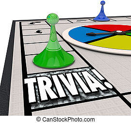 Trivia Board Game Fun Knowledge Challenge Playing Quiz Test...