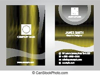 Dark green business card template