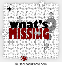 Whats Missing Question Words Puzzle Holes Gaps Incomplete...