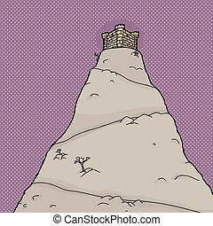 Castle Over Purple Halftone