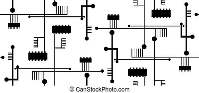 Isolated Circuit Pattern
