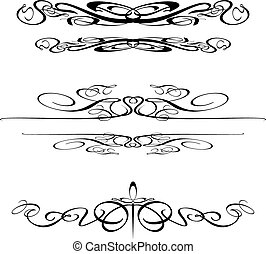 Swirl Border Elements 2 - Decorative Vector Art Swirls