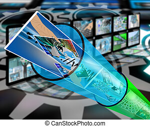 cable channel - Many abstract images on the theme of...