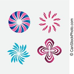 Abstract icon and logo set