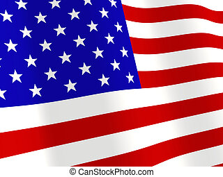American flag - Background - a fluttering American flag
