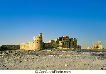 Sabaean Wall on Diga Ruins at Marib, Yemen