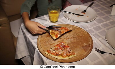 the last piece of pizza at birthday party