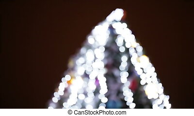 Christmas tree bokeh - Illumination Christmas tree in...