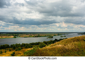 Beautiful landscape in Konstantinovo, Russia - the...
