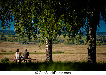 Beautiful landscape in Konstantinovo, Russia - the...