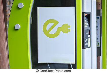 electric vehicle charging station - EV - electric vehicle...
