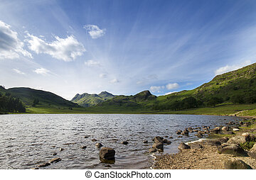 lake district - Beautiful picturesque lake district in...