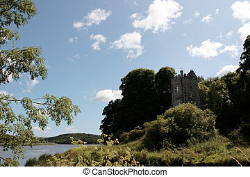 blackwater river castle - a castle tower in knockanore...