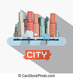 Abstract Vector City Illustration