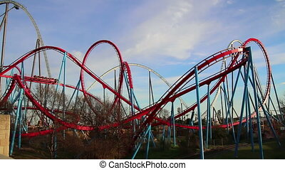 Huge Roller Coasters Amusement Park - Huge Roller Coasters...
