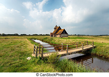 Kent Countryside - The church at Fairfield on Romney Marsh...