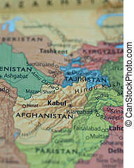 Afghanistan Pakistan map - Map of Afghanistan Pakistan area...