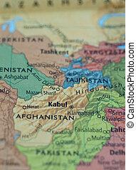 Afeganistão, PAQUISTÃO, mapa