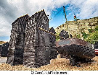 Fisherman's Net Huts at Hastings