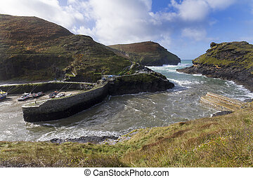 Boscastle harbour Cornwall - Boscastle North Cornwall...