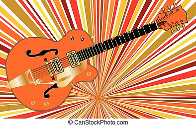 Retro Music - Retro background behind a typical country and...