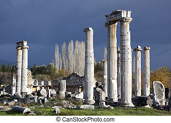 Temple of Aphrodite - Ruins of Aphrodite Temple in ancient...