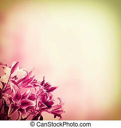 Background with flowers - Vintage nature background with...