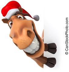 Fun Christmas  horse - Fun Christmas horse