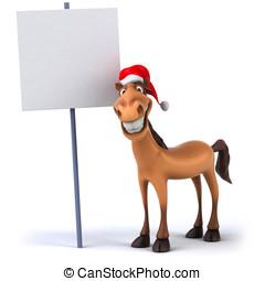 Fun Christmas horse