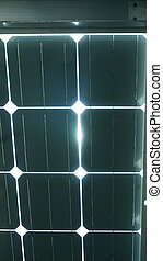 solar cell roof underneath with blue color