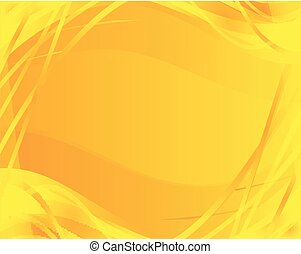 Abstract wave yellow background