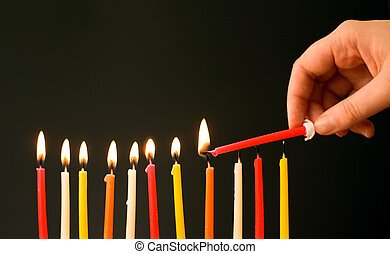 Let the party begins! Burning the birthday candles. Focus on...