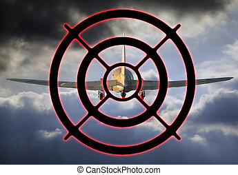 Airplane target - Flying airplane is a target