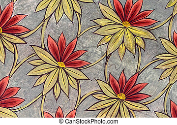floral pattern - detail of classic floral pattern photo...