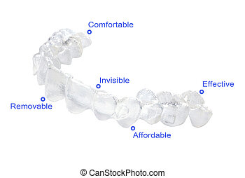 Invisible braces - Advantages of invisible braces