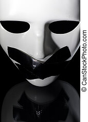 silenced mask - mask shot from above with masking tape on...